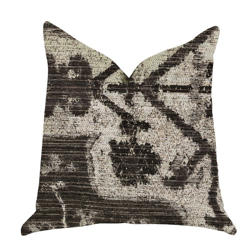 "Plutus Brands Metro Pulse Beige and Grey Tones Luxury Throw Pillows Pillows 16"" x 16"" (PBRA1387-1616-DP)"