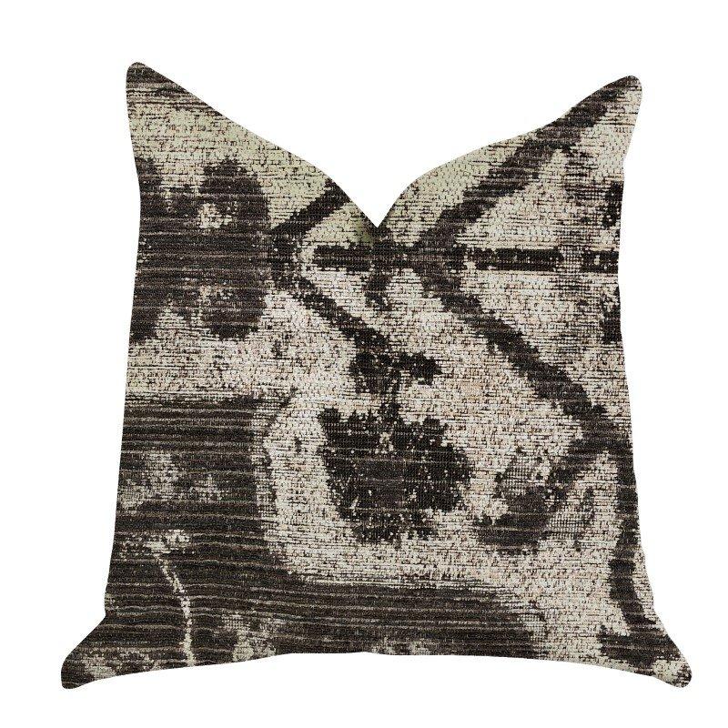 "Plutus Brands Metro Pulse Beige and Grey Tones Luxury Throw Pillows Pillows 20"" x 30"" Queen (PBRA1387-2030-DP)"