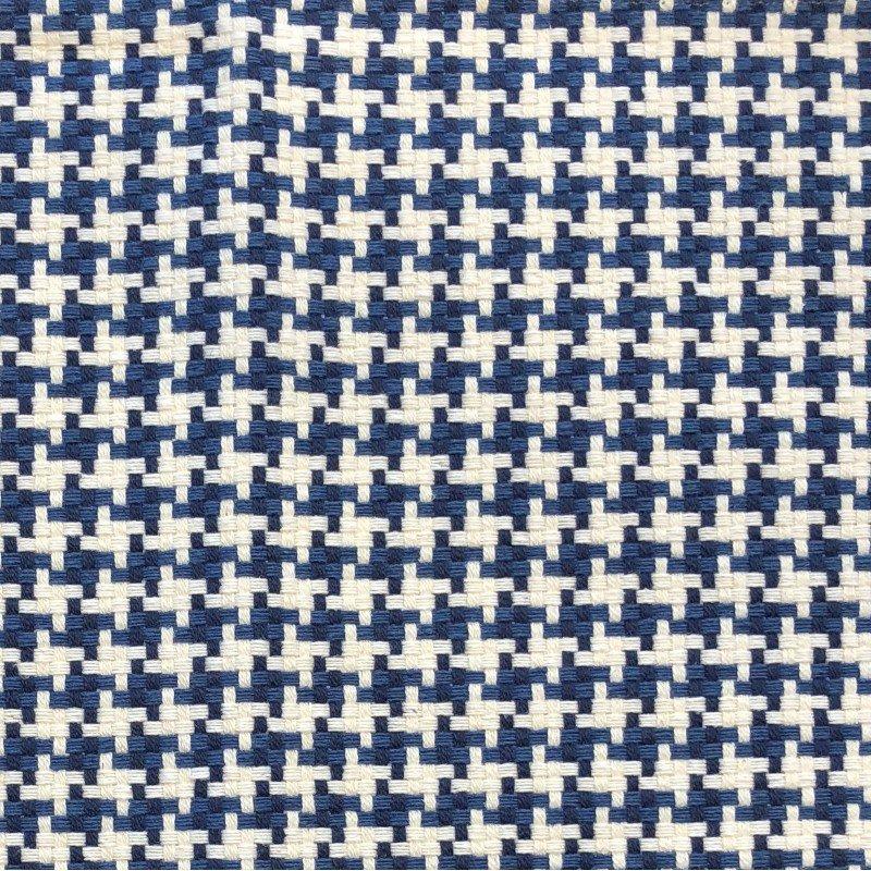 "Plutus Brands Mezmerize Blue Beige and Black Luxury Throw Pillow 26"" x 26"" (PBKR1998-2626-DP)"