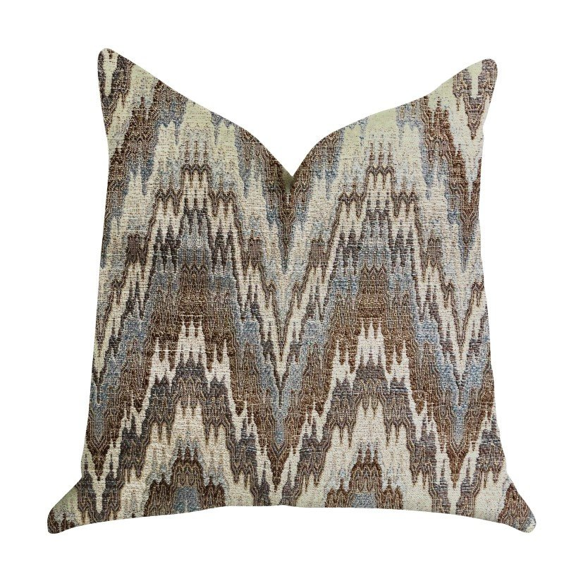 "Plutus Brands Mid Night Oblique Ridge Wave Luxury Throw Pillow 24"" x 24"" (PBRA1337-2424-DP)"