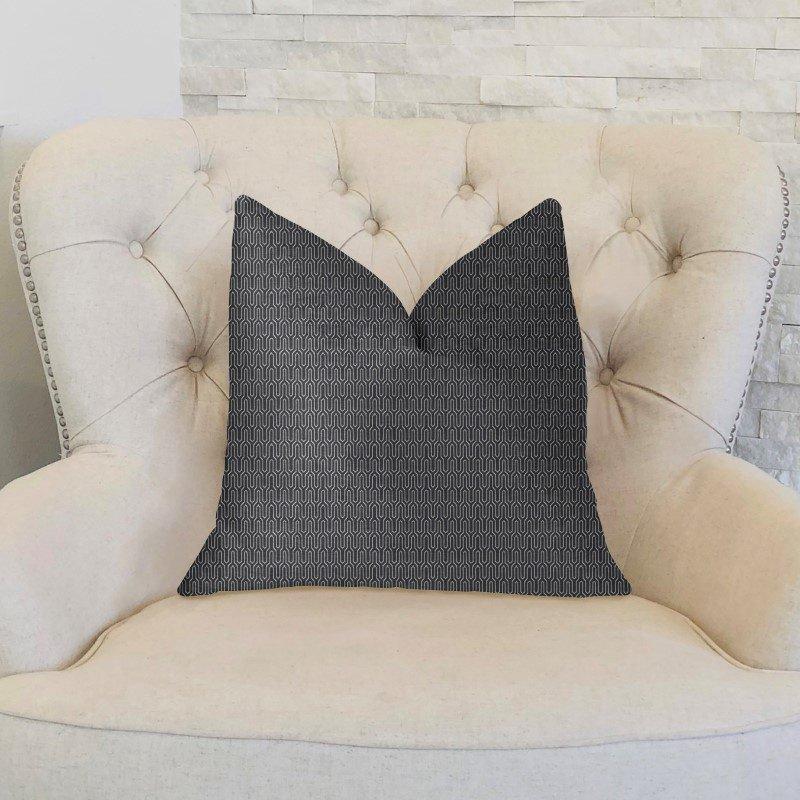 "Plutus Brands Milan Flare Black and Beige Luxury Throw Pillow 20"" x 36"" King (PBKR1982-2036-DP)"