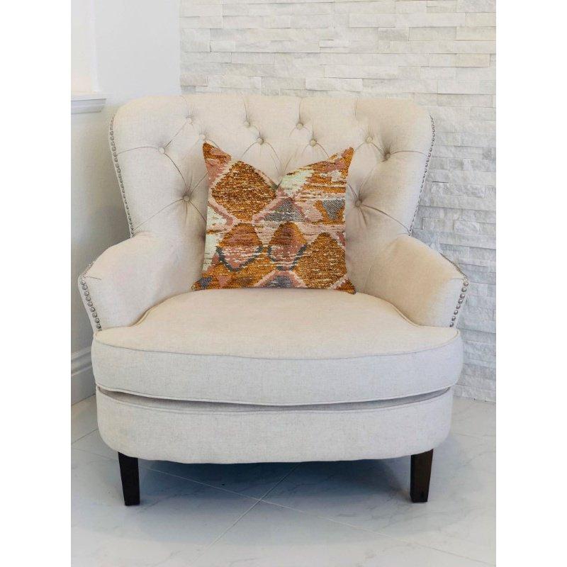 "Plutus Brands Mira Oasis Shades of Brown Luxury Throw Pillow 20"" x 20"" (PBRA1314-2020-DP)"