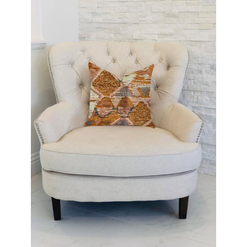 "Plutus Brands Mira Oasis Shades of Brown Luxury Throw Pillow 26"" x 26"" (PBRA1314-2626-DP)"