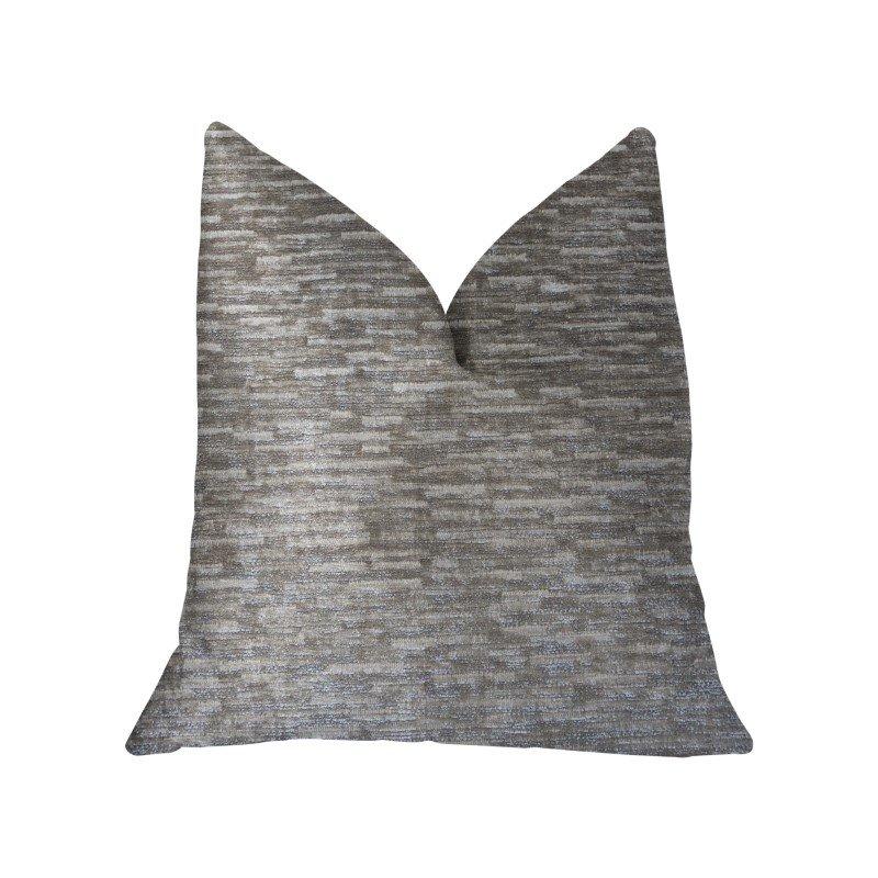 "Plutus Brands Montage Beige Luxury Throw Pillow 16"" x 16"" (PBKR1924-1616-DP)"