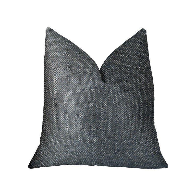 "Plutus Brands Montesano Blue Handmade Luxury Pillow Double Sided 24"" x 24"" (PBRAZ387-2424-DP)"