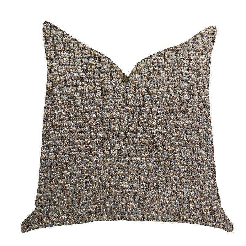 "Plutus Brands Moondust Radiance Luxury Throw Pillow in Gold Leaf Pillows 20"" x 30"" Queen (PBRA1382-2030-DP)"