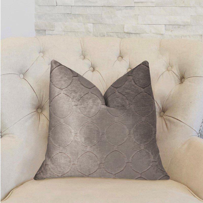 """Plutus Brands Moonlight Beige Luxury Throw Pillow 22"""" x 22"""" (PBRA2275-2222-DP)"""