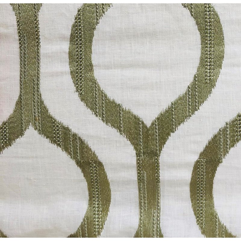 """Plutus Brands Morrocan Villa Light Grass Luxury Throw Pillow 18"""" x 18"""" (PBRA1349-1818-DP)"""