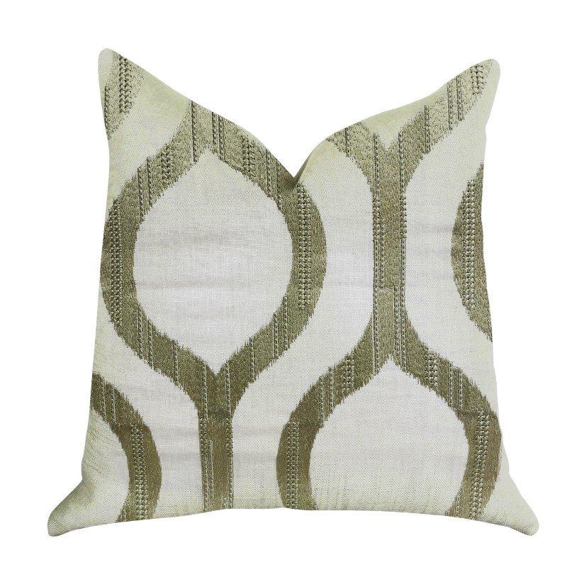 """Plutus Brands Morrocan Villa Light Grass Luxury Throw Pillow 20"""" x 20"""" (PBRA1349-2020-DP)"""