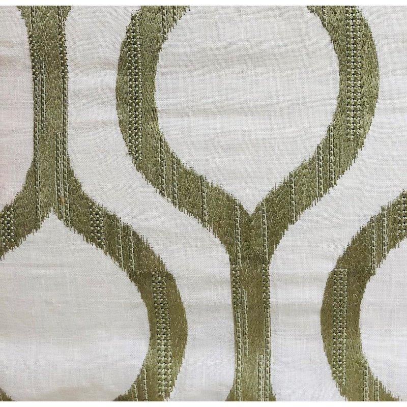 """Plutus Brands Morrocan Villa Light Grass Luxury Throw Pillow 20"""" x 30"""" Queen (PBRA1349-2030-DP)"""
