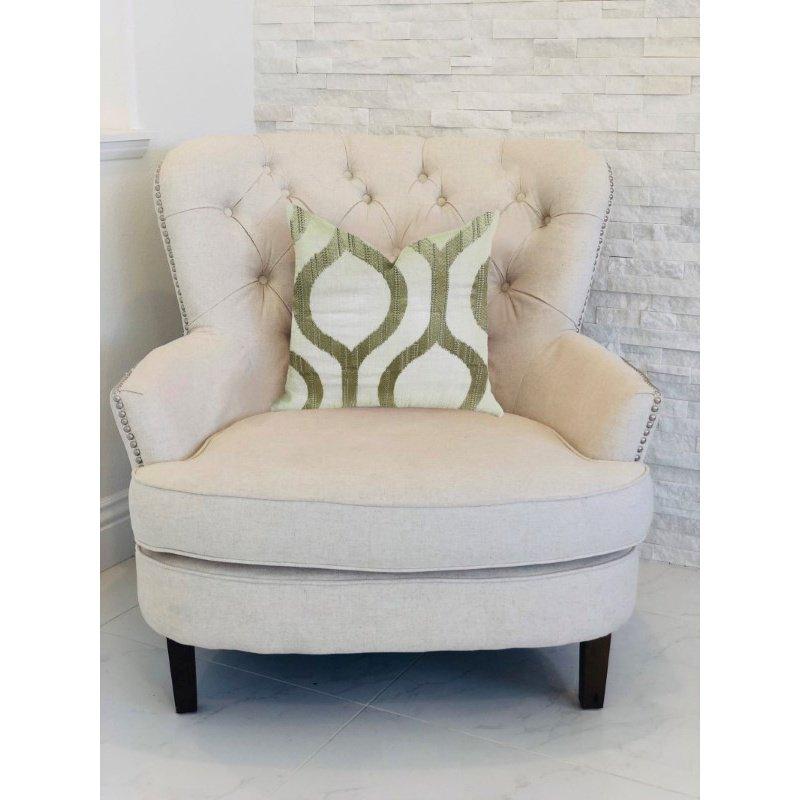 """Plutus Brands Morrocan Villa Light Grass Luxury Throw Pillow 22"""" x 22"""" (PBRA1349-2222-DP)"""