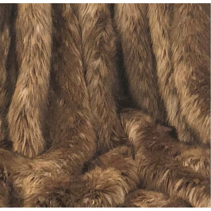 "Plutus Brands Mountain Coyote Handmade Luxury Throw Blanket 80""L x 90""W Twin XL (PBSF1406-8090-TC)"