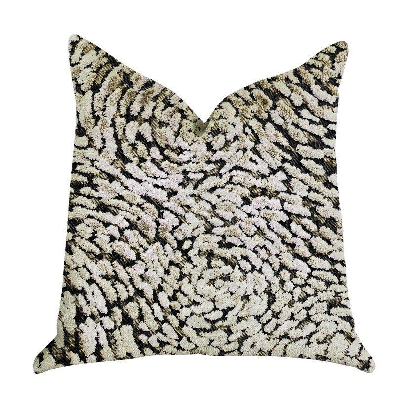 "Plutus Brands Mulberry Lasso Green Tones Luxury Throw Pillow 20"" x 20"" (PBRA1345-2020-DP)"