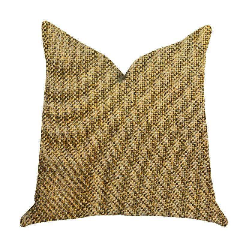 "Plutus Brands Mustard Seed Luxury Throw Pillow in Dark Yellow Pillows 20"" x 36"" King (PBRA1397-2036-DP)"