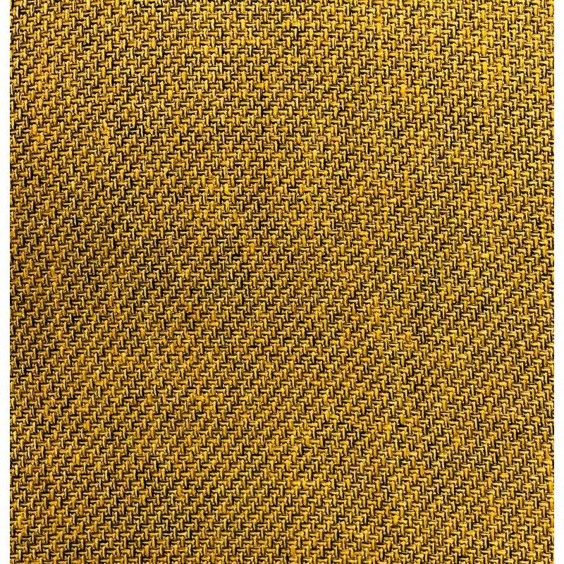 "Plutus Brands Mustard Seed Luxury Throw Pillow in Dark Yellow Pillows 24"" x 24"" (PBRA1397-2424-DP)"