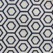 "Plutus Brands Myriad Hexagon Blue and Beige Luxury Throw Pillow 18"" x 18"" (PBKR1997-1818-DP)"