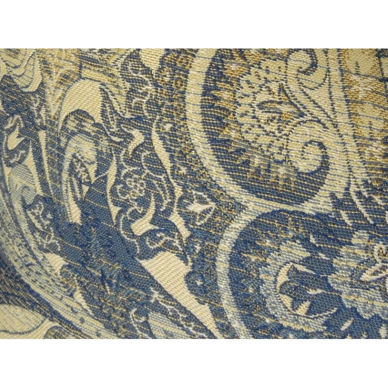 """Plutus Brands Myrtle Navy Blue and Taupe Handmade Luxury Pillow 26"""" x 26"""" (PBRAZ083-2626-DP)"""