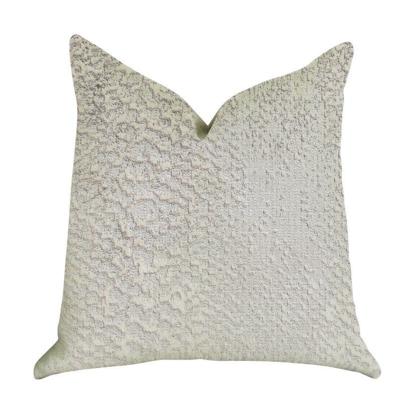 """Plutus Brands Mystical Iceberg Throw Pillow in White and Silver Tones Pillows 20"""" x 30"""" Queen (PBRA1408-2030-DP)"""
