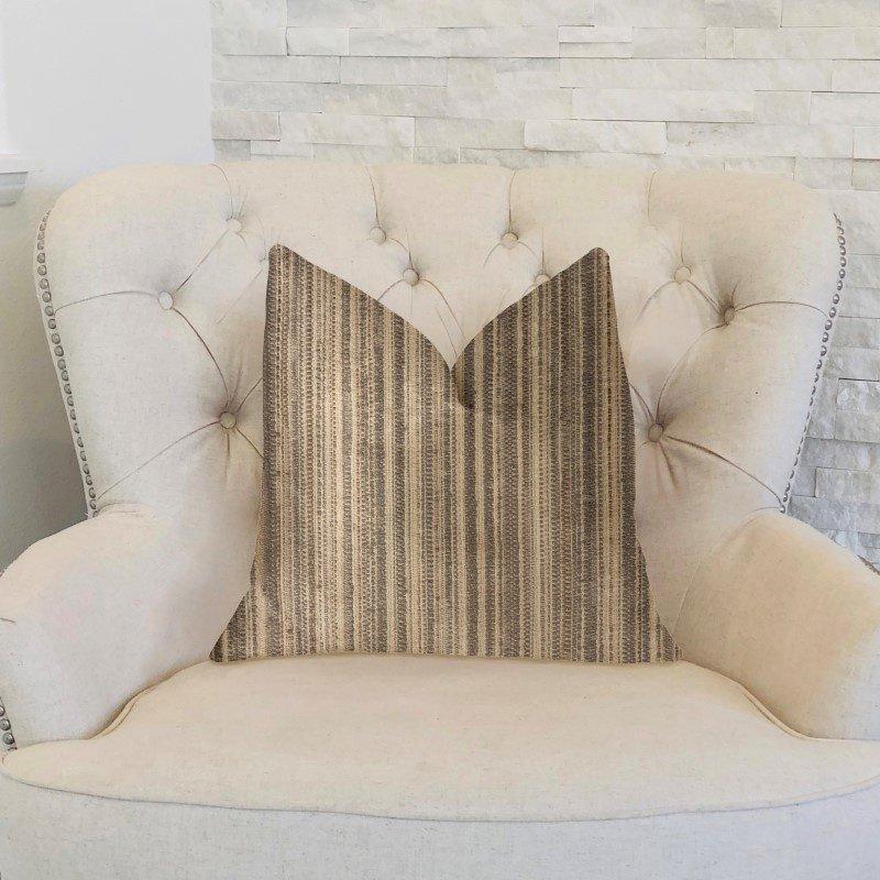 "Plutus Brands New Hampton Ivory and Beige Luxury Throw Pillow 20"" x 36"" King (PBKR1931-2036-DP)"