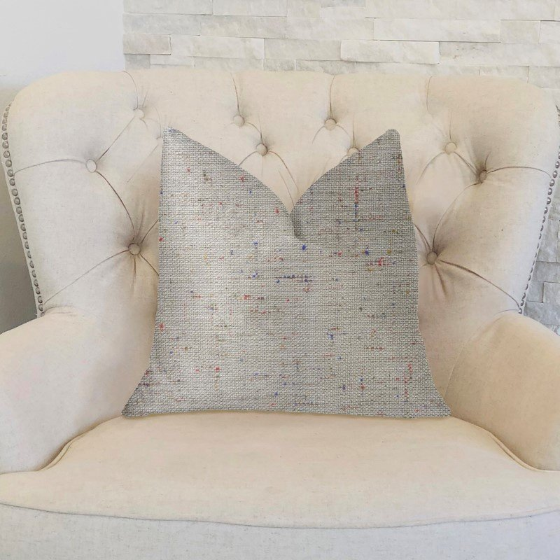 "Plutus Brands New Haven Multicolor Luxury Throw Pillow 18"" x 18"" (PBKR1961-1818-DP)"