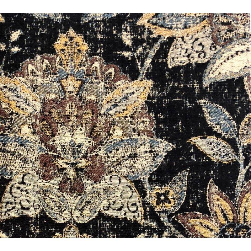 "Plutus Brands Noir Lotus Blossom Luxury Throw Pillow 18"" x 18"" (PBRA1335-1818-DP)"
