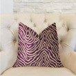"Plutus Brands Oasis Waves Purple and Beige Luxury Throw Pillow 18"" x 18"" (PBRA2294-1818-DP)"