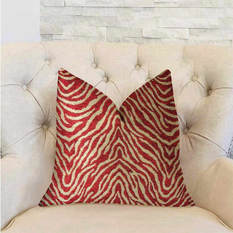 "Plutus Brands Oasis Waves Red Luxury Throw Pillow 20"" x 26"" Standard (PBRA2292-2026-DP)"