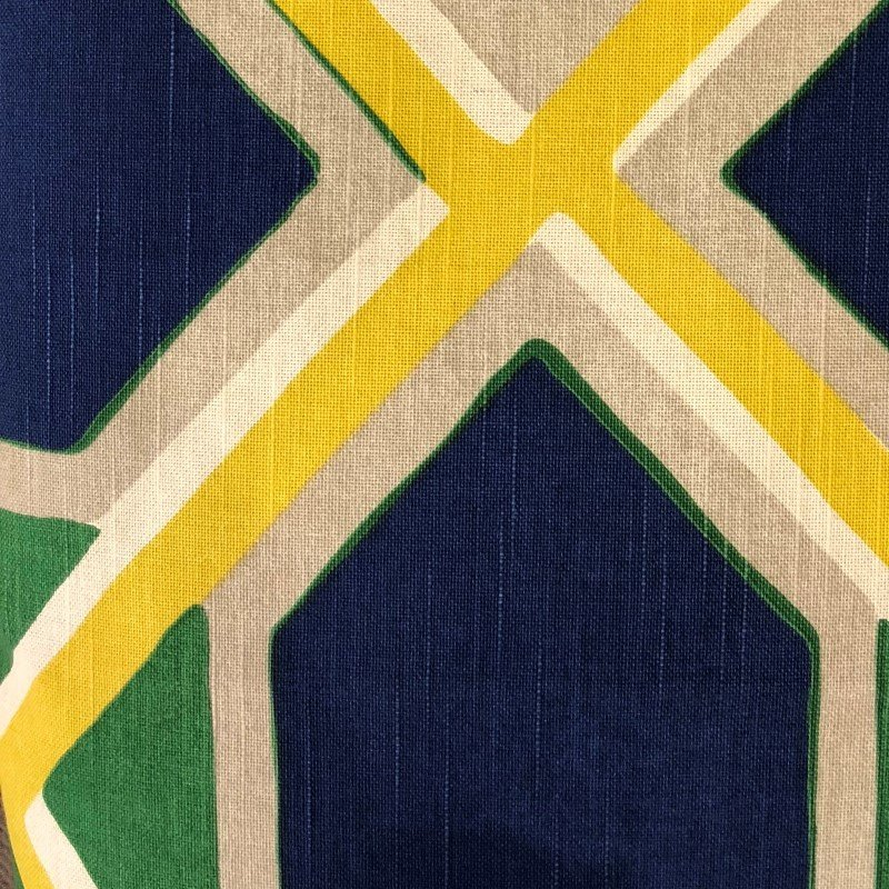 """Plutus Brands Obliquity Blue Yellow and Green Luxury Throw Pillow 20"""" x 20"""" (PBRA2218-2020-DP)"""