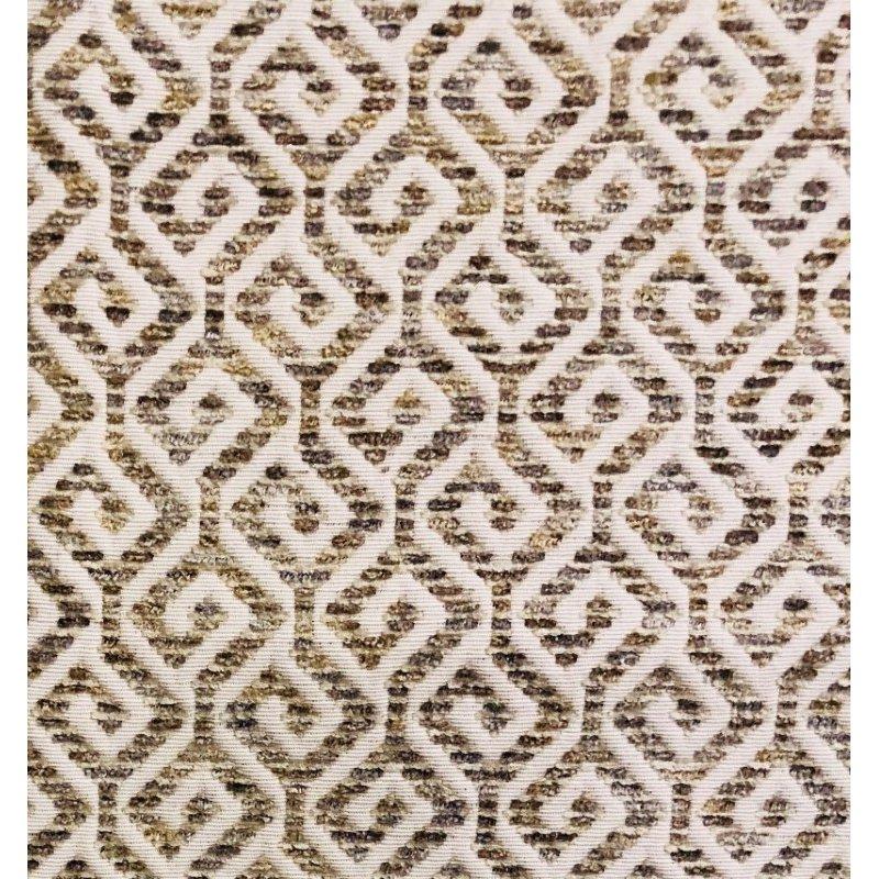 "Plutus Brands Omni Truffle Brown Shades Maze Luxury Throw Pillow 12"" x 25"" (PBRA1341-1225-DP)"