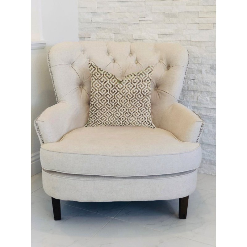 "Plutus Brands Omni Truffle Brown Shades Maze Luxury Throw Pillow 18"" x 18"" (PBRA1341-1818-DP)"