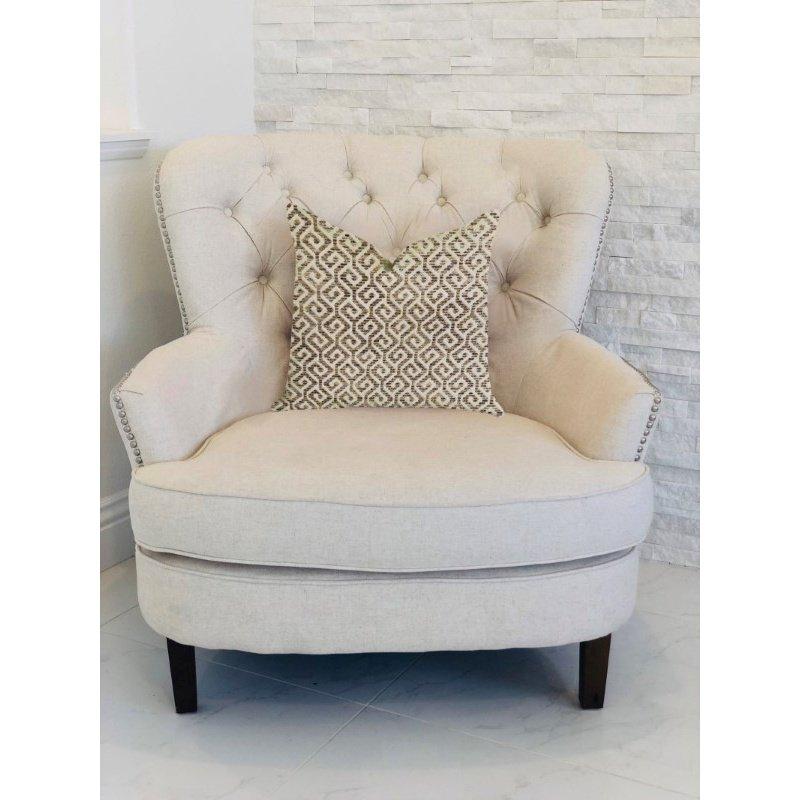 "Plutus Brands Omni Truffle Brown Shades Maze Luxury Throw Pillow 24"" x 24"" (PBRA1341-2424-DP)"