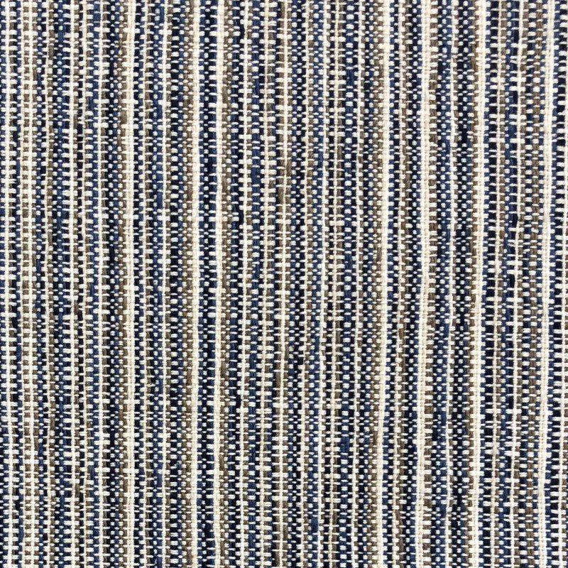 "Plutus Brands Parallel Lanes Blue Beige and Brown Luxury Throw Pillow 18"" x 18"" (PBKR1951-1818-DP)"
