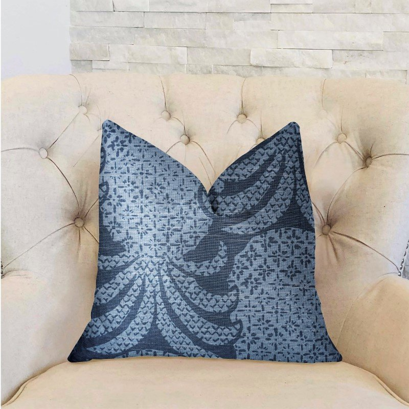 "Plutus Brands Pineapple Crush Blue and Black Luxury Throw Pillow 20"" x 36"" King (PBRA2235-2036-DP)"