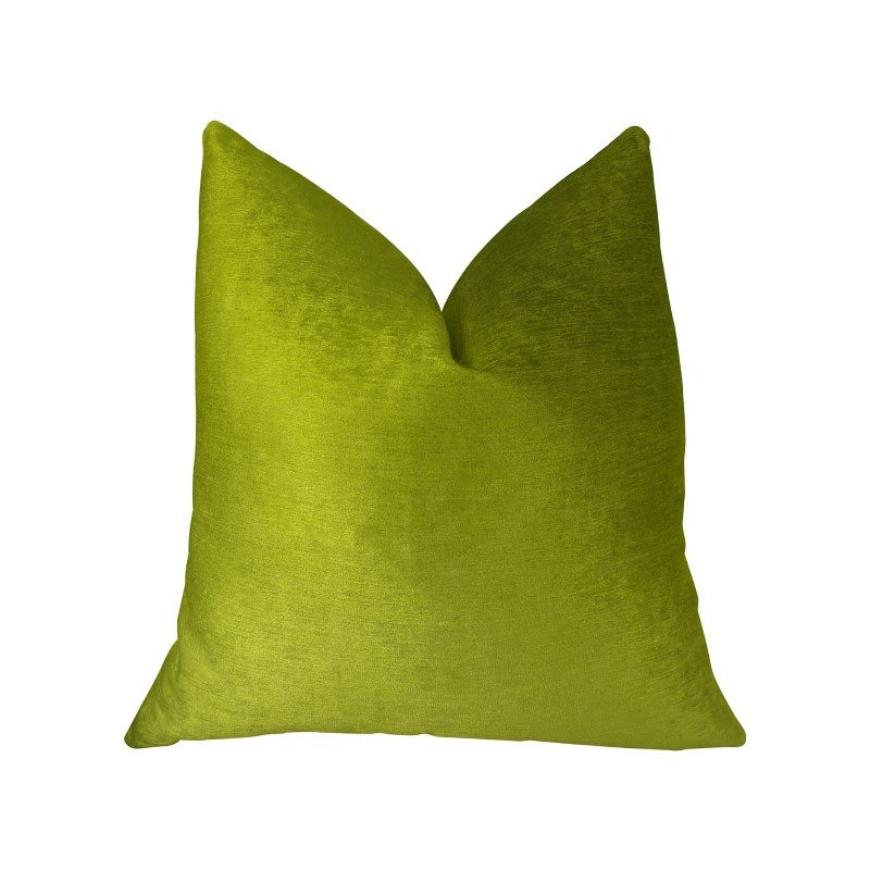 "Plutus Brands Pistachio Love Green Handmade Luxury Pillow 20"" x 36"" King (PBRAZ375-2036-DP)"
