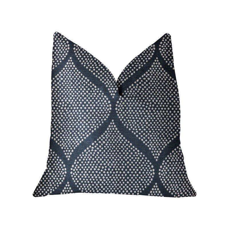 "Plutus Brands Pitaya Blue and White Luxury Throw Pillow 12"" x 20"" (PBRA2231-1220-DP)"