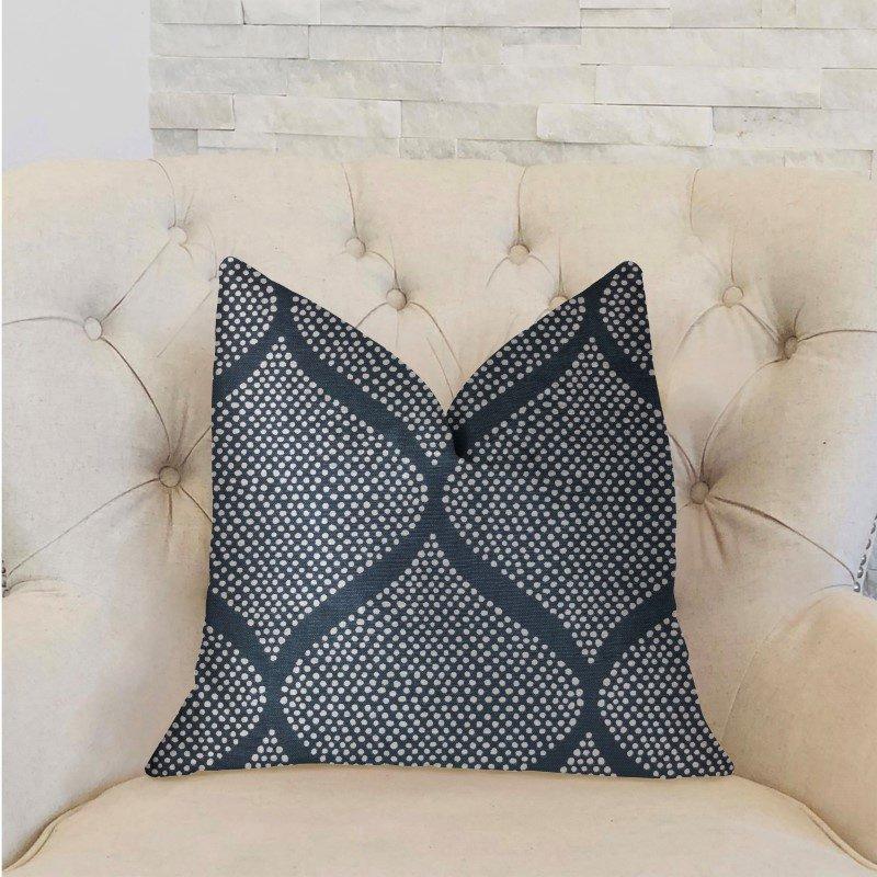 "Plutus Brands Pitaya Blue and White Luxury Throw Pillow 26"" x 26"" (PBRA2231-2626-DP)"