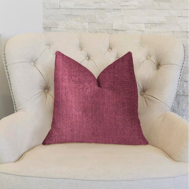 "Plutus Brands Plumptious Purple Luxury Throw Pillow 24"" x 24"" (PBKR1968-2424-DP)"