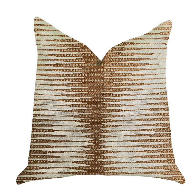 "Plutus Brands Pokaline Chevron Luxury Throw Pillow 20"" x 20"" (PBRA1317-2020-DP)"