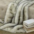 """Plutus Brands Polar Bear Faux Fur Luxury Throw 60""""W x 84""""L (PBEZ1777-6084-TC)"""
