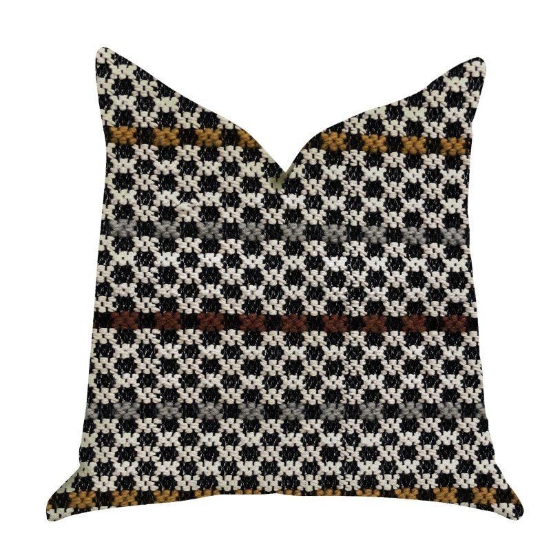 """Plutus Brands Poppy Chic Woven Luxury Throw Pillow in Multi Color Pillows 16"""" x 16"""" (PBRA1373-1616-DP)"""