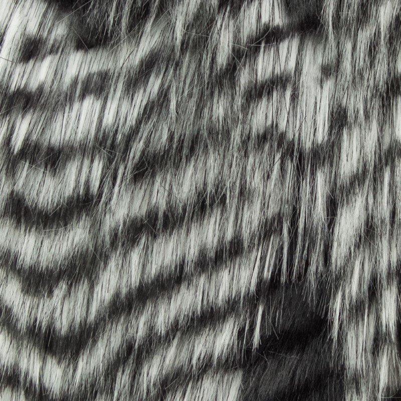 "Plutus Brands Porcupine Grey and Silver Faux Fur Luxury Throw Blanket 102""L x 116""W California King (PBEZ1785-102x116)"