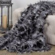 """Plutus Brands Porcupine Grey and Silver Faux Fur Luxury Throw Blanket 108""""L x 90""""W Full - Queen (PBEZ1785-108x90T)"""