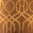 "Plutus Brands Portia Gold and Brown Luxury Throw Pillow 18"" x 18"" (PBRA2297-1818-DP)"