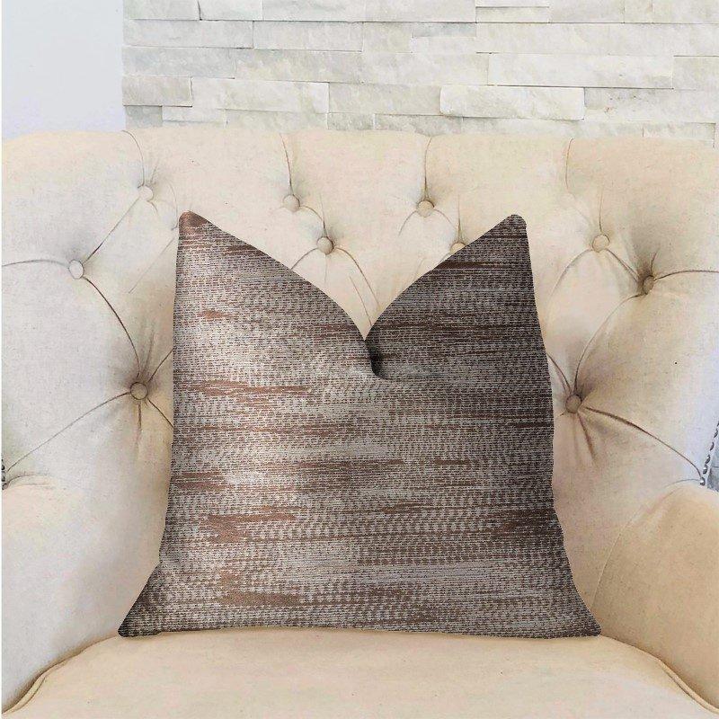 "Plutus Brands Pretty Oasis Brown Luxury Throw Pillow 12"" x 20"" (PBRA2207-1220-DP)"