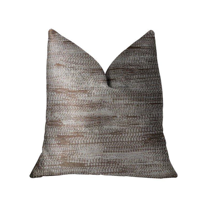 "Plutus Brands Pretty Oasis Brown Luxury Throw Pillow 20"" x 20"" (PBRA2207-2020-DP)"