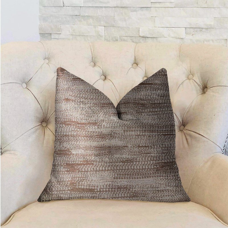 "Plutus Brands Pretty Oasis Brown Luxury Throw Pillow 20"" x 36"" King (PBRA2207-2036-DP)"