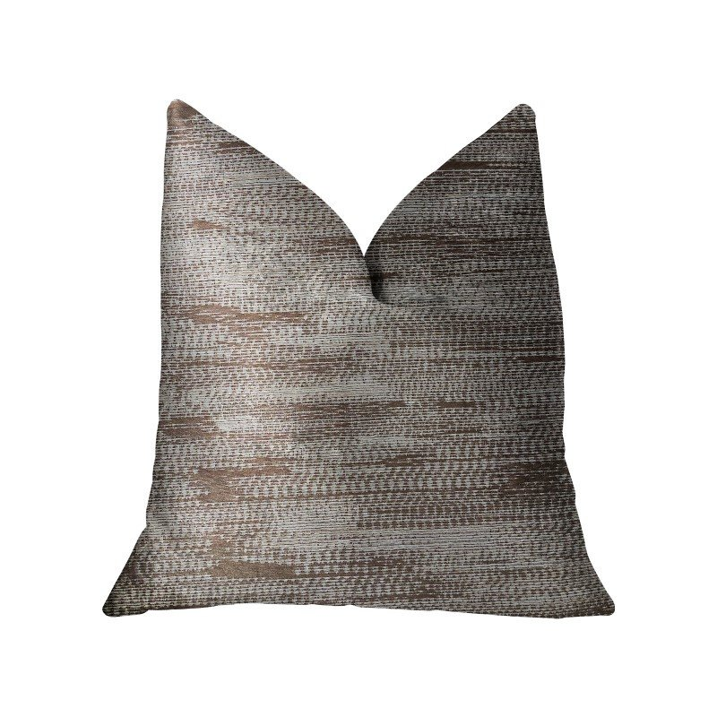 "Plutus Brands Pretty Oasis Brown Luxury Throw Pillow 22"" x 22"" (PBRA2207-2222-DP)"