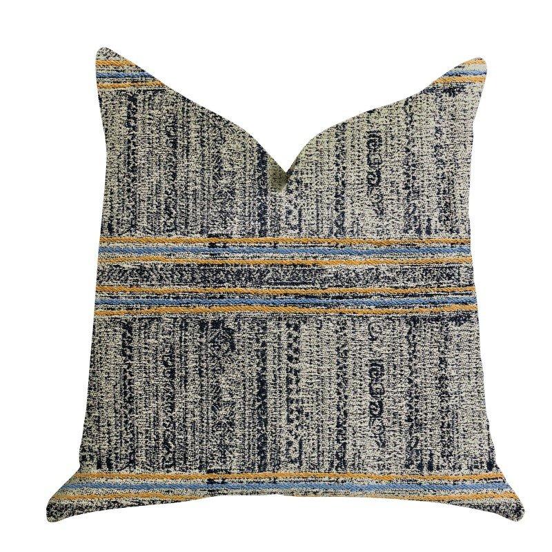 "Plutus Brands Promenade Way Textured Luxury Throw Pillow 22"" x 22"" (PBRA1330-2222-DP)"