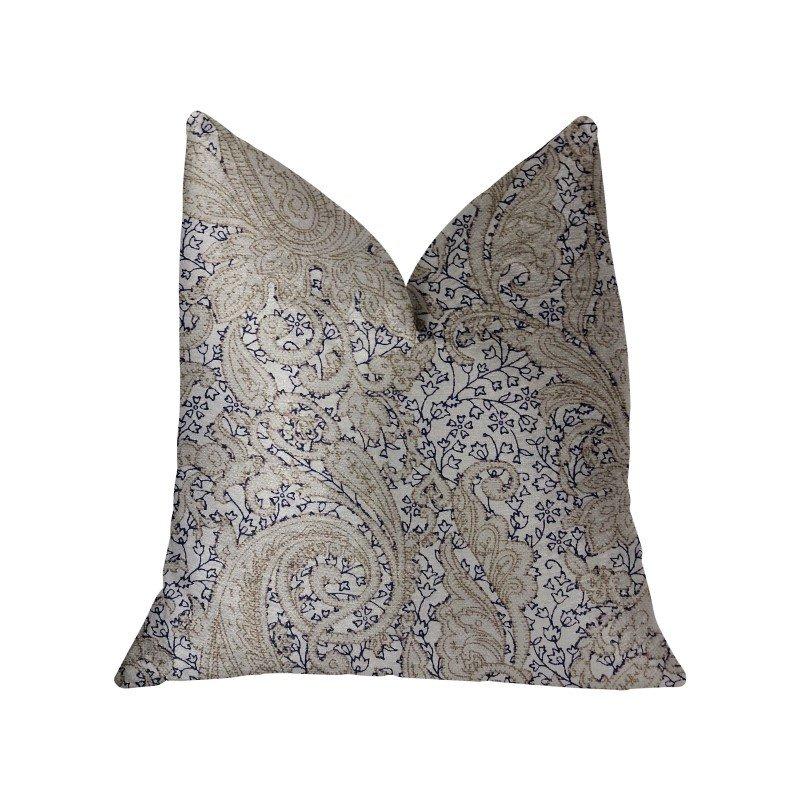 "Plutus Brands Quartz Skye Beige Luxury Throw Pillow 18"" x 18"" (PBRA2239-1818-DP)"