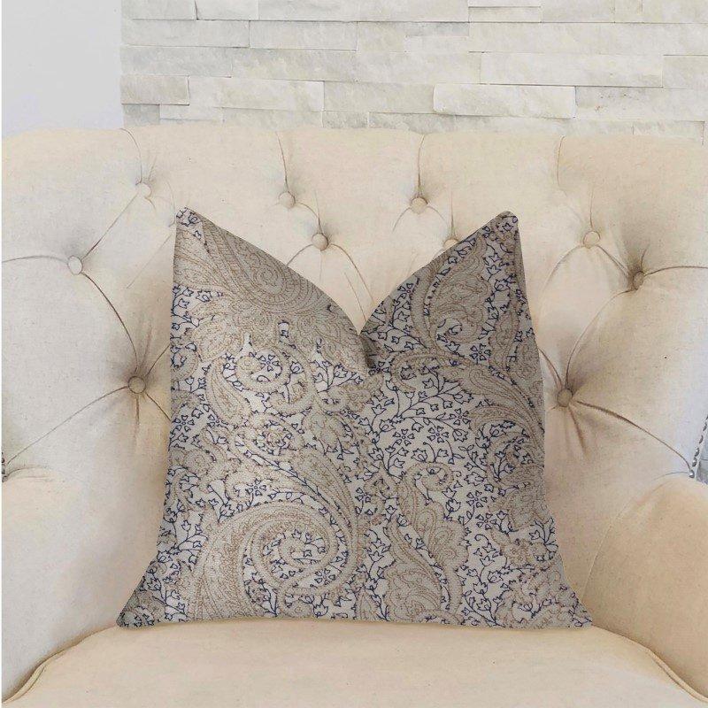 """Plutus Brands Quartz Skye Beige Luxury Throw Pillow 20"""" x 30"""" Queen (PBRA2239-2030-DP)"""